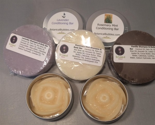 Shampoo & Body Bar            Hair Conditioner Bar